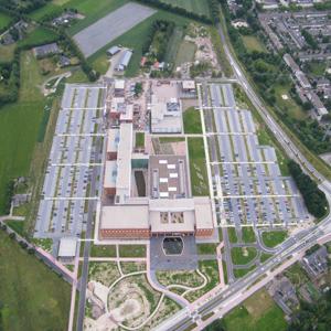 Berhove ziekenhuis Uden tijdens een ballonvaart in Uden