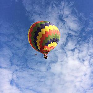 luchtballon boven Barneveld