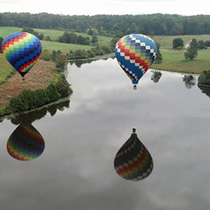 luchtballon boven Gorinchem