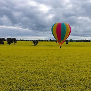 luchtballon boven Oss