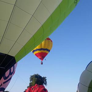 luchtballon boven Utrecht