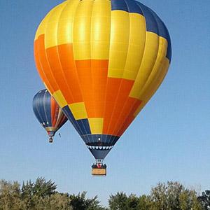 luchtballon boven Zwolle